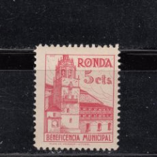Sellos: RONDA. BENEFICENCIA MUNICIPAL 5 CTS.. Lote 262377680