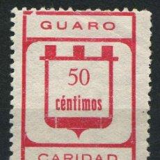 "Sellos: ESPAÑA. GUERRA CIVIL. GUARO (MÁLAGA). EDIFIL 8A. ""C"" MINUSCULA.. Lote 262380920"