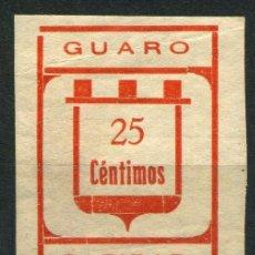 Sellos: ESPAÑA. GUERRA CIVIL. GUARO (MÁLAGA). EDIFIL 9A 25 CTS. SIN DENTAR. NO RESEÑADO. Lote 262381695