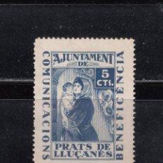 Sellos: PRATS DE LLUCANES. BENEFICENCIA. 5 CTS.. Lote 262386110