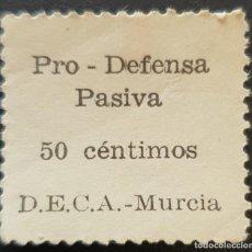 Sellos: GUERRA CIVIL. PRO DEFENSA PASIVA D.E.C.A. MURCIA. Lote 262442140