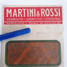 Sellos: BARCELONA. MARTINI & ROSSI. PAPELES DE NEGOCIO. DIRIGIDA A FIGUERES, GIRONA. 1937. Lote 262568350