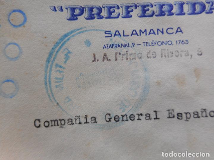 Sellos: SOBRE CENSURA MILITAR.HIJO FEDERICO FERNANDEZ.MAQUINARIA.PREFERIDA.SALAMANCA 1937.GUERRA CIVIL - Foto 2 - 262821850