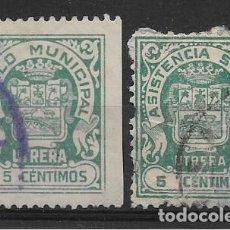 Sellos: UTRERA, SELLOS MUNICIPAL Y BENEFICO.- VER FOTO. Lote 262849050