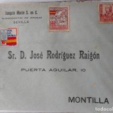 Sellos: ANTIGUO SOBRE JOSE MARTIN.ALMACENISTAS DE DROGAS.SEVILLA. JOSE RODRIGUEZ RAIGON.MONTILLA. Lote 262879055