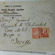 Sellos: SOBRE CENSURA MILITAR.DANIEL MORGADO AGREDANO.PUEBLA DE LOS INFANTES.SEVILLA.GUERRA CIVIL. Lote 262959755