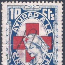 Sellos: AJUDAD A LA CRUZ ROJA 1937. 10 CTS.. Lote 263006480