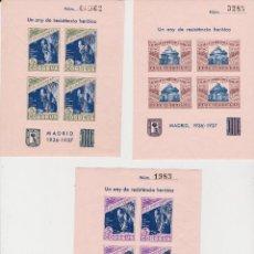 Sellos: 1937 GUERRA CIVIL PI DE LLOBREGAT 5 HOJITAS RESISTENCIA MADRID**. Lote 263110910