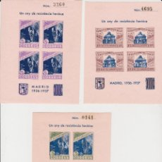 Sellos: 1937 GUERRA CIVIL PI DE LLOBREGAT 6 HOJITAS RESISTENCIA MADRID SIN DENTAR**. Lote 263111070