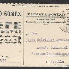 Sellos: POSTAL CIRCULADA DE LEPE A SEVILLA, COMERCIAL- VER FOTOS. Lote 263580160
