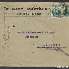 Sellos: CARTA CIRCULADA DE JABUGO A ARACENA.- --PROCURADOR- VER FOTOS. Lote 263580895