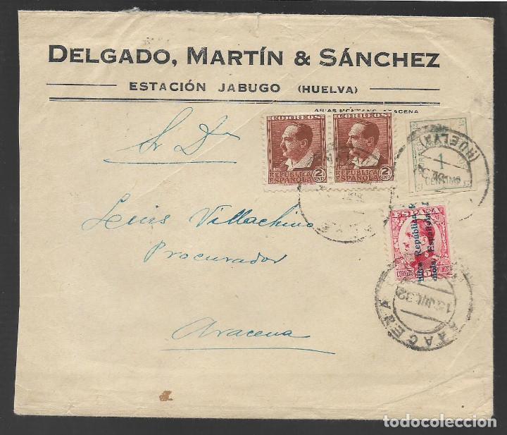 CARTA CIRCULADA DE JABUGO A ARACENA.- --PROCURADOR- VER FOTOS (Sellos - España - Guerra Civil - Locales - Cartas)