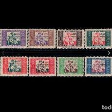 Sellos: ESPAÑA - 1937 - BENEFICENCIA - EDIFIL 1/8 - SERIE COMPLETA - MH* - NUEVOS.. Lote 263789210