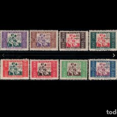 Sellos: ESPAÑA - 1937 - BENEFICENCIA - EDIFIL 1/8 - SERIE COMPLETA - MH* - NUEVOS.. Lote 263789290