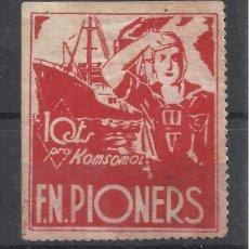 Francobolli: FEDERACIO NACIONAL DE PIONERS 10 CTS PRO KOMSOMOL NUEVO(*). Lote 263911455