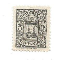 Sellos: AYUNTAMIENTO DE SANTANDER 5CTS. Lote 264189032