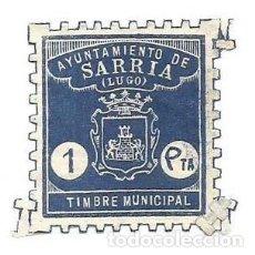 Sellos: TIMBRE MUNICIPAL. AYUNTAMIENTO DE SARRIA.LUGO. 1 PTA SELLO MUNI. Lote 264189604