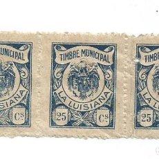 Sellos: TIMBRE MUNICIPAL. LA LUISIANA, SEVILLA. 25 CS. SELLO MUNICIPAL. BLOQUE 3. Lote 264189712
