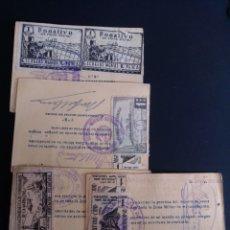 Timbres: LOTE DE 4 CARNETS DE PESCA CON VIÑETAS. AÑO 1959.. Lote 264515529