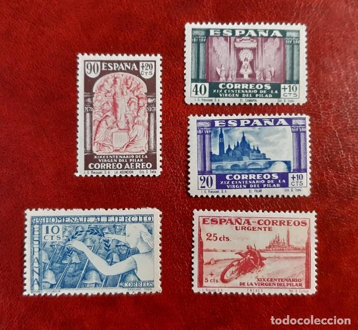 LOTE DE 5 SELLOS SIN CIRCULAR DE 1939. CON Y SIN CHARNELA (Sellos - España - Guerra Civil - De 1.936 a 1.939 - Nuevos)
