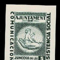 Timbres: 0040 GUERRA CIVIL JUNCOSA DE LES GARRIGUES FESOFI Nº 1S SIN DENTAR VALOR 5 CTS COLOR VERDE SIN GOMA. Lote 265710179