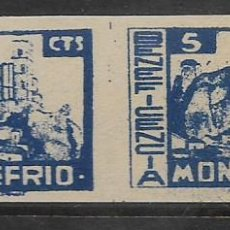Timbres: MONTEFRIO-GRANADA- 5 CTS,-PAREJA SIN DENTAR.- BENEFICENCIA, VER FOTO. Lote 265930773