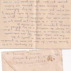 Selos: SOBRE CON CARTA ENVIADA DESDE EL FRENTE 12/3/1939 . CENSURA MILITAR.. Lote 266088148