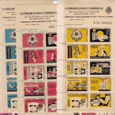Timbres: GP26- 5 HOJAS BLOQUE 10 VIÑETAS EXPO FILATÉLICA GRANOLLERS 1957 ** SIN FIJASELLOS. Lote 266399463