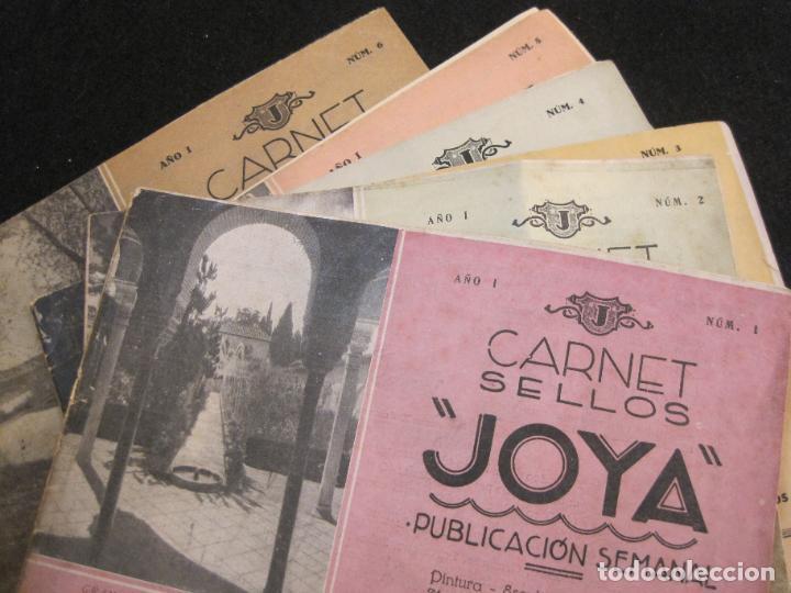 CARNET SELLOS JOYA-ALBUMES DEL 1 AL 6 COMPLETOS CON SUS SELLOS-VER FOTOS-(K-3064) (Sellos - España - Guerra Civil - Viñetas - Nuevos)
