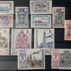 Selos: SELLOS GUERRA CIVIL. PRO SEMINARIO DE ZARAGOZA. GÁLVEZ 1944. SIN DENTAR.. Lote 267418294