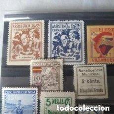 Timbres: LOTE DE SELLOS Y VIÑETAS DE LA GUERRA CIVIL.. Lote 267509489