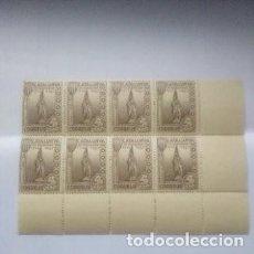 Sellos: ESPAÑA VIÑETA GUERRA CIVIL CATALUÑA PI DE LLOBREGAT BLOQUE DE 8.MNH. Lote 267672999
