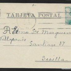 Sellos: POSTAL CIRCULADA AL PALACO DE CRISTO REY, MARQUESES VILLAPANES.-VARIEDAD DE ESCUDO Y TIPOGRAFIA,VER. Lote 267676769