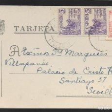 Sellos: POSTAL CIRCULADA AL PALACO DE CRISTO REY, MARQUESES VILLAPANES.-VARIEDAD DE ESCUDO Y TIPOGRAFIA,VER. Lote 267676874