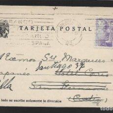Sellos: POSTAL CIRCULADA AL PALACO DE CRISTO REY, MARQUESES VILLAPANES.-VARIEDAD DE ESCUDO Y TIPOGRAFIA,VER. Lote 267677069