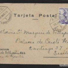 Sellos: POSTAL CIRCULADA AL PALACO DE CRISTO REY, MARQUESES VILLAPANES.-VARIEDAD DE ESCUDO Y TIPOGRAFIA,VER. Lote 267678629