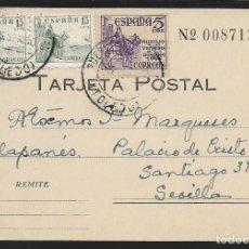 Sellos: POSTAL AL PALACIO DE CRISTO REY.-VARIEDAD CON Nº Y ESCUDO, PIE.:GOMEZ MANZANO- CARTAGENA, MOD. 26 B. Lote 267679574