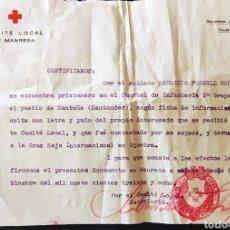 Sellos: GUERRA CIVIL COMITÉ LOCAL MANRESA SOLDADO PRISIONERO 1938. Lote 268719249