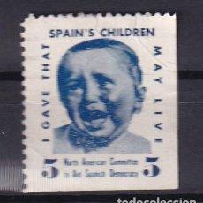 Sellos: AID SPANISH DEMOCRACY. SPANISH CHILDREN ALLEPUZ 2592. Lote 268745064
