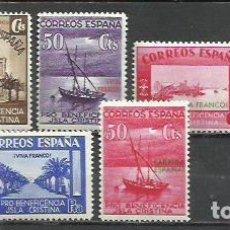 Sellos: 8405-SELLOS ESPAÑA 1938 GUERRA CIVIL LOCALES ISLA CRISTINA Y HUEVAR ,HUELVA Y SEVILLA BENEFICENCIA. Lote 269186443