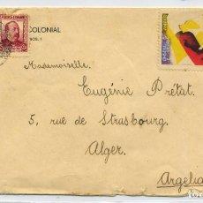 Sellos: ESPAÑA GUERRA CIVIL. BARCELONA A ARGELIA CON VIÑETA SANITAT DE GUERRA GENERALITAT 25 NOV 1936.. Lote 269217243