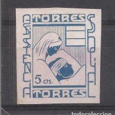 Sellos: TORRES TORRES JAEN ASISTENCIA SOCIAL 5 CTS NUEVO(*). Lote 269277863