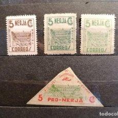 Sellos: ESPAÑA GUERRA CIVIL NERJA SELLOS VIÑETAS SERIE 5CTS DESCRIPCIÓN RESEÑAS CATALOGO. Lote 269456463