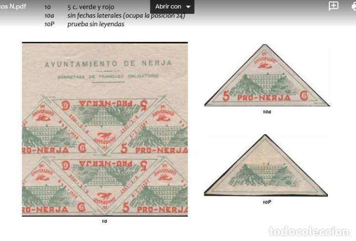 Sellos: España Guerra Civil Nerja Sellos Viñetas serie 5cts Descripción reseñas Catalogo - Foto 4 - 269456463