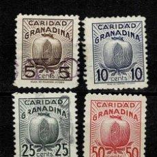 Sellos: CL8-12 GUERRA CIVIL GRANADA CARIDAD GRANADINA FESOFI Nº 5C-10C-25C-50C Y 1PTA SERIE BASICA USADOS. Lote 269499783