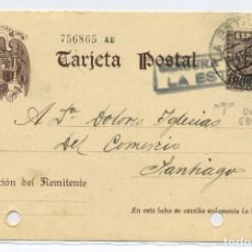 Sellos: ESPAÑA GUERRA CIVIL.PROVINCIA PONTEVEDRA. ENTERO POSTAL LA ESTRADA A SANTIAGO 4.1.40 CENSURA E35.3. Lote 269822958