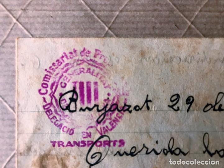 Sellos: VALENCIA- GUALBA (BARCELONA) CARTA CIRCULADA DESDE EL FRENTE DE VALENCIA 1938 - Foto 3 - 270931883