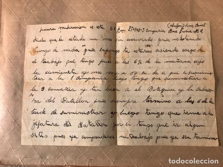 Sellos: VALENCIA- GUALBA (BARCELONA) CARTA CIRCULADA DESDE EL FRENTE DE VALENCIA 1938 - Foto 4 - 270931883