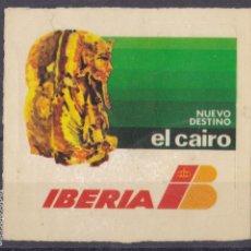 Sellos: FC3-47- VIÑETA /PEGATINA IBERIA NUEVO DESTINO EL CAIRO 68 X 64 MM. Lote 271640638