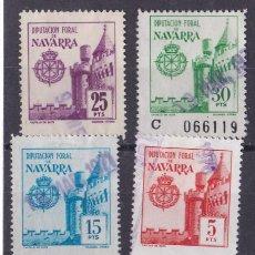 Sellos: FC3-59- FISCALES DIPUTACIÓN FORAL NAVARRA X 5 VALORES USADOS. Lote 271841408